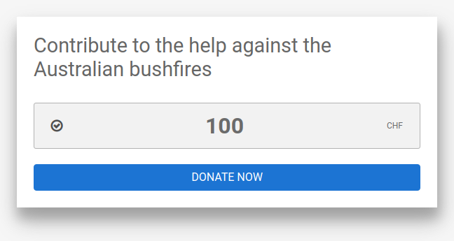 DonationWidget example singleDon