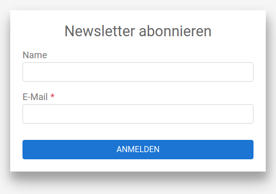 Webform NewsletterMini